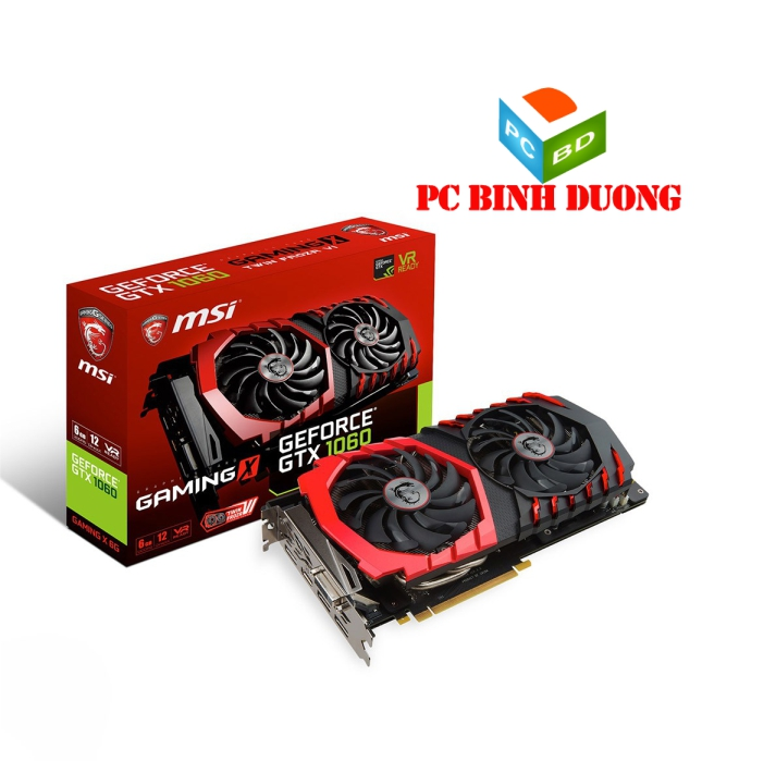 CARD VGA MSI GTX1060 - 6GB - GAMING X