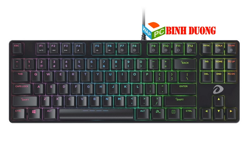 BÀN PHÍM CƠ DAREU DK880 LED ( RGB ) 87 KEY BLACK - BLUE SWITCH