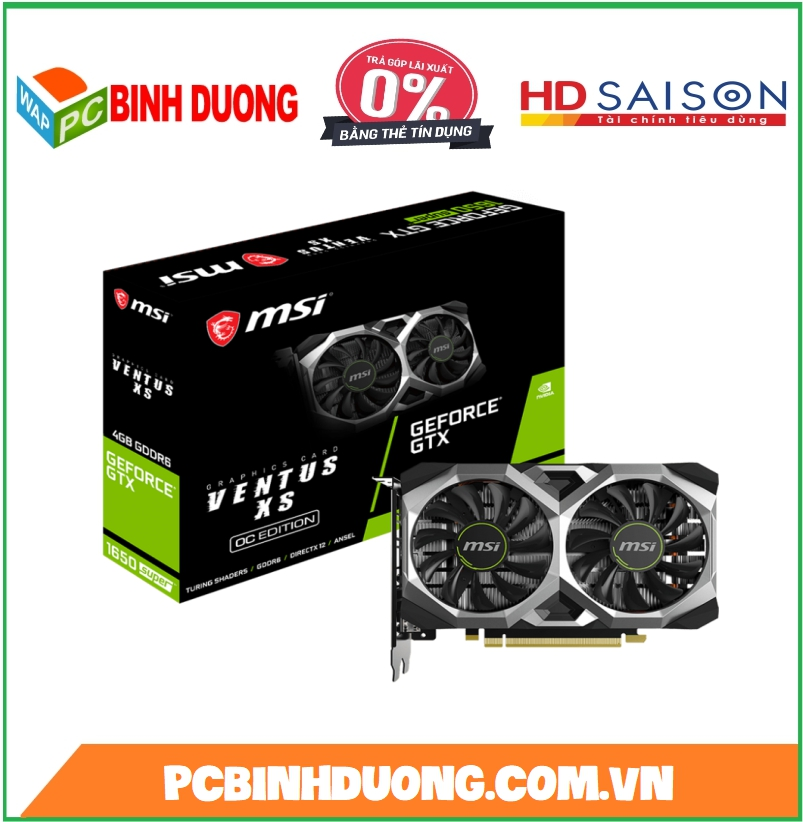 CARD VGA MSI GTX 1650 SUPER  VENTUS XS OC 4GB