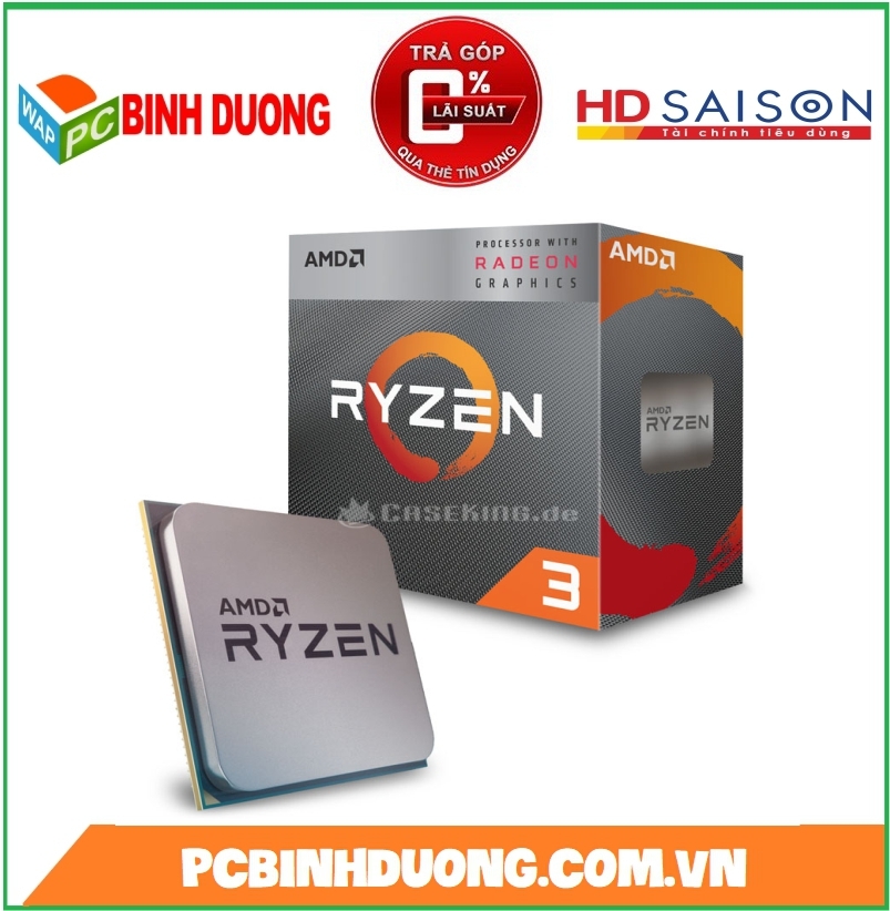 CPU AMD RYZEN 3-3200G ( 3.6GHz TURBO 4.0Hz ) SOKET AM4 CÓ VGA ON ( BH 36T )