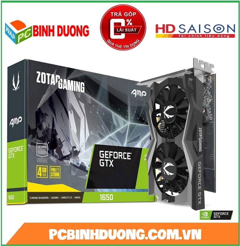 CARD VGA ZOTAC GTX1650 4GB/DDR6 AMP