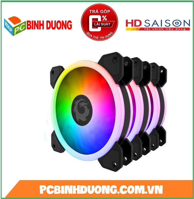 BỘ QUẠT FORGAME CAT EYE LED RGB ( KIT 3 FAN )