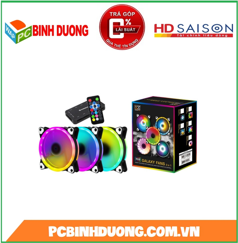 BỘ QUẠT XIGMATEK GALAXY II ELITE-AY120 ARGB ( EN40298 ) LED RGB ( KIT 3 FAN )