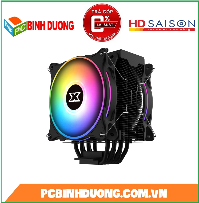 Tản nhiệt khí CPU XIGMATEK WINDPOWER PRO (EN44276) - TDP 200W, ARGB (2 FAN AT120, TOP COVER)