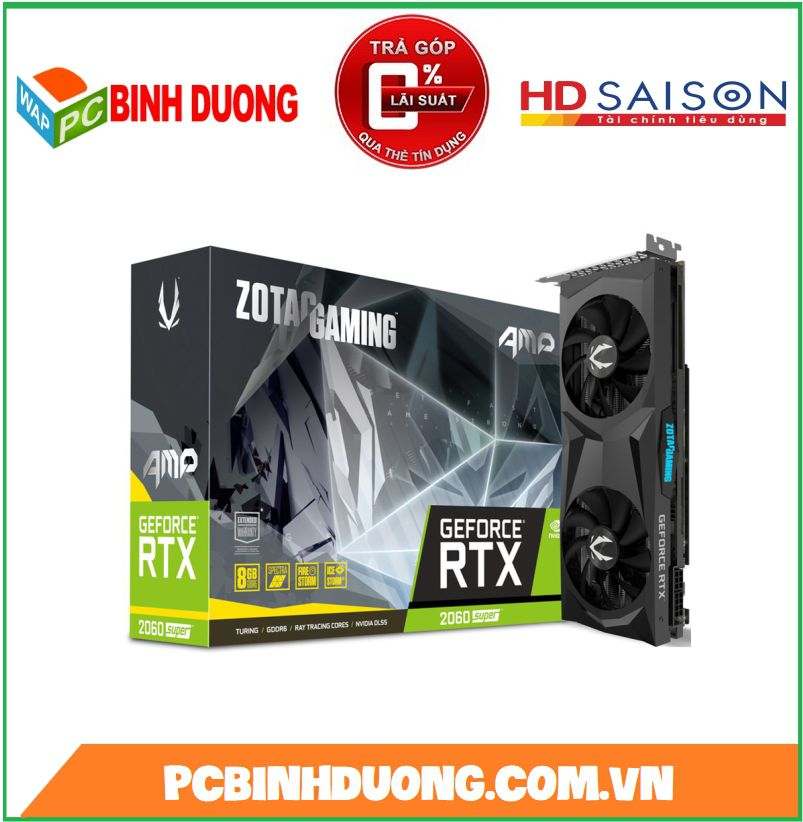 CARD VGA ZOTAC RTX2060 SUPER AMP 8GB/DDR6/256BIT