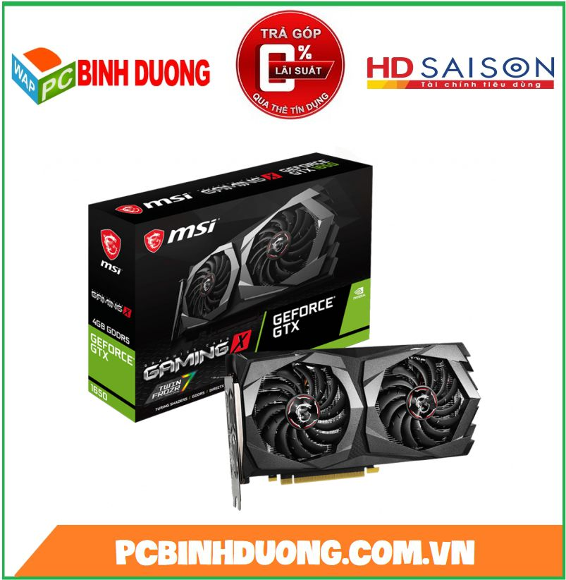 CARD VGA MSI GTX 1650 GAMING X 4GB