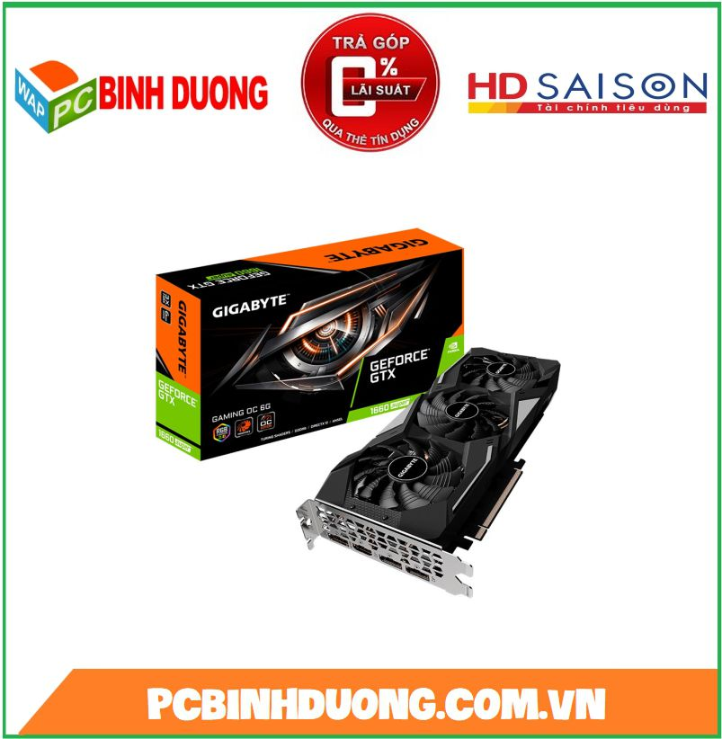 Card màn hình GIGABYTE GTX1660 SUPER GAMING OC 6G 6GB GDDR6