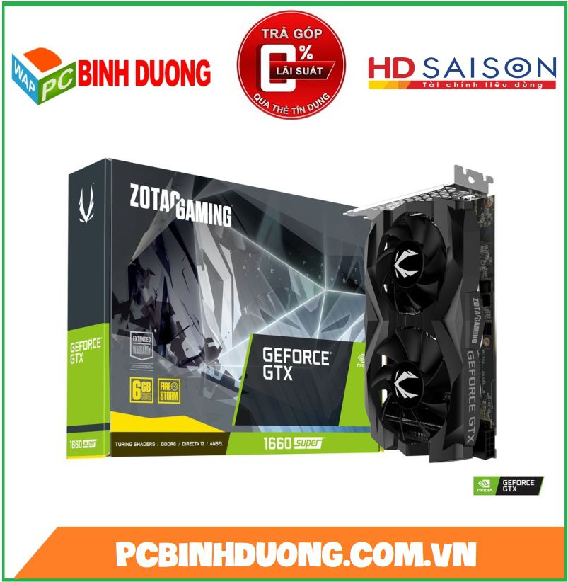 CARD VGA ZOTAC GTX1660 SUPER TWIN 6GB/DDR5/192BIT