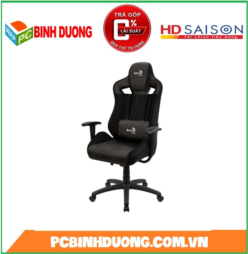 GHẾ GAMING Aerocool Chair Earl Iron Black