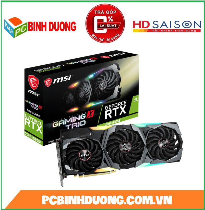 CARD VGA MSI RTX 2080 SUPER GAMING X TRIO 8GB/DDR6/256BIT