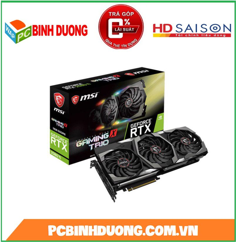 CARD VGA MSI RTX 2080TI GAMING X TRIO 11GB/DDR6 352BIT