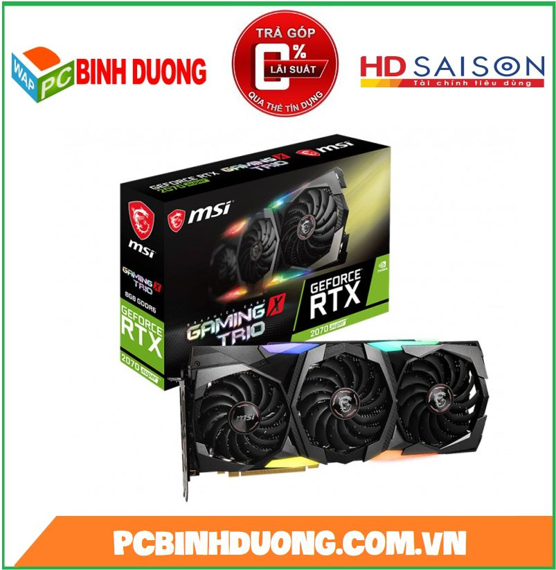 CARD VGA MSI RTX 2070 SUPER GAMING X TRIO 8GB/DDR6/256BIT