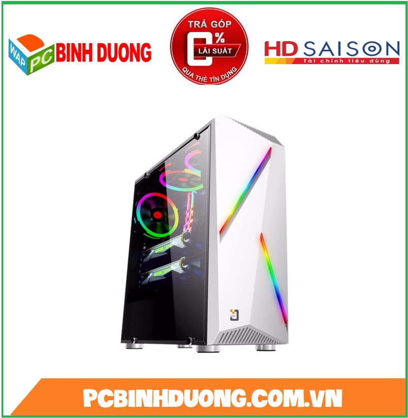 CASE JETEK G9311W  LED RGB - WHITE