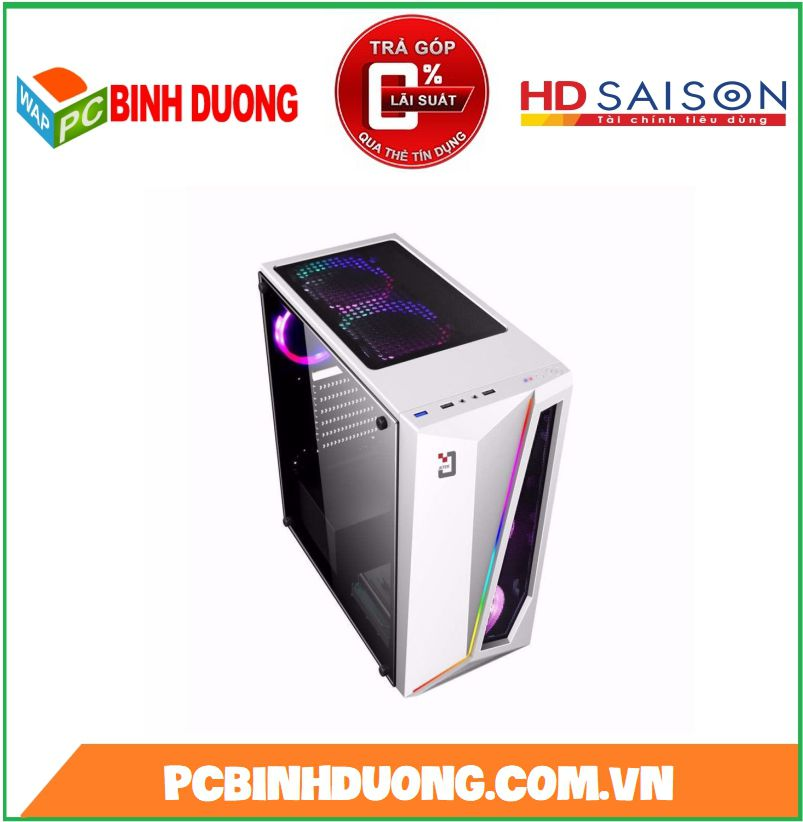 CASE JETEK G9321W  LED RGB - WHITE