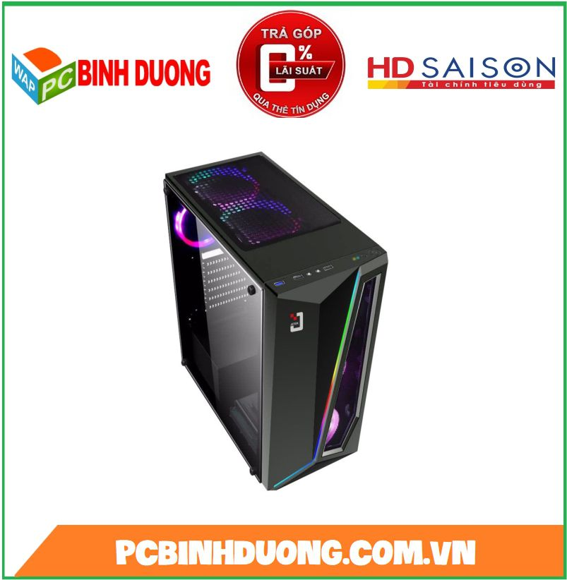 CASE JETEK G9321B LED RGB - BLACK