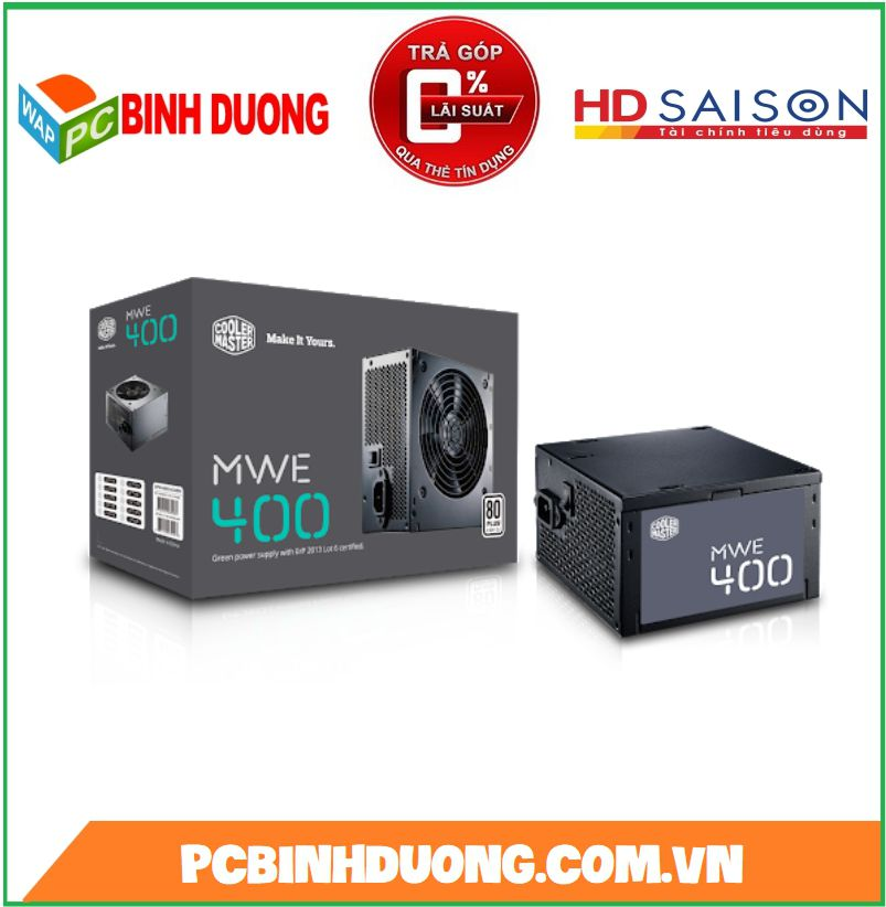 NGUỒN COOLE MASTER MWE 400W 80 PLUS WHITE ACTIVE PFC
