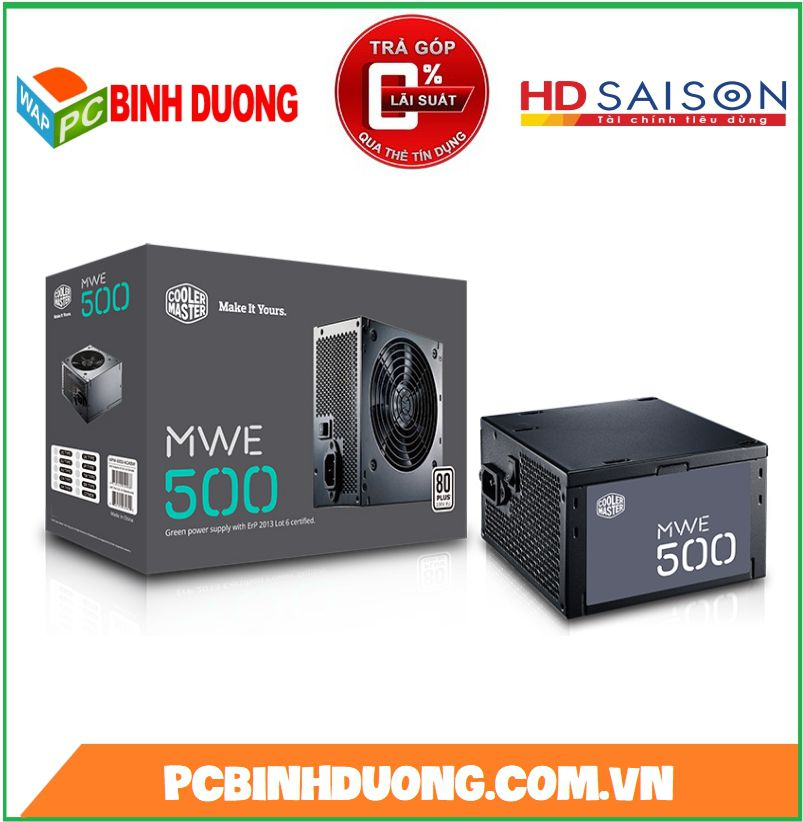 NGUỒN COOLE MASTER MWE 500W 80 PLUS WHITE ACTIVE PFC