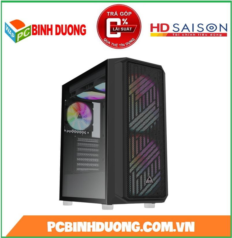 Case Montech Air X Black ( Tặng kèm 3 Fan RGB )