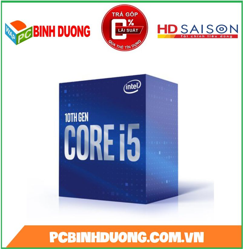 CPU INTEL Core i5-10400F 2.9GHz up to 4.3GHz 12MB (No GPU)
