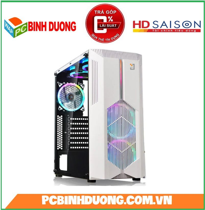 Case Jetek Game Beryl-II (G9602W) White ( Tặng Kèm 2 Fan Led )
