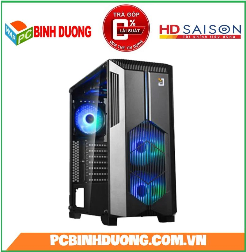 Case Jetek Game Beryl-II (G9602B) Black ( Tặng Kèm 2 Fan Led )